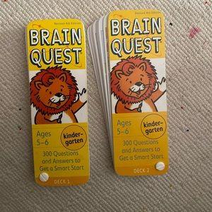 Brain quest kindergarten flash cards